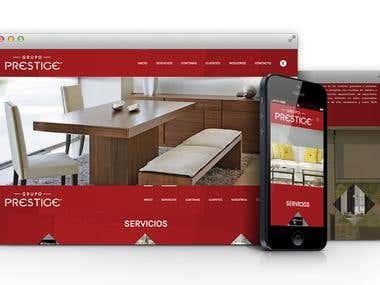 Prestige Group / Website Design and Development