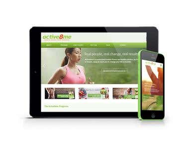 Active8Me Fitness Site - Web Design
