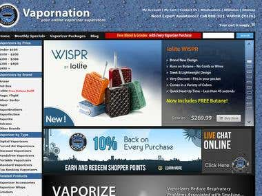Vapornation - Custom e-Commerce System Development