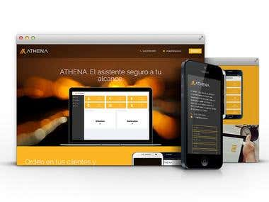 Athena File Website - Website Design