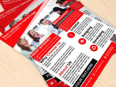 I Will Do Attractive Double Side Flyer Design Within 12 Hour