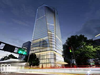 Commercial Building Arch-Viz