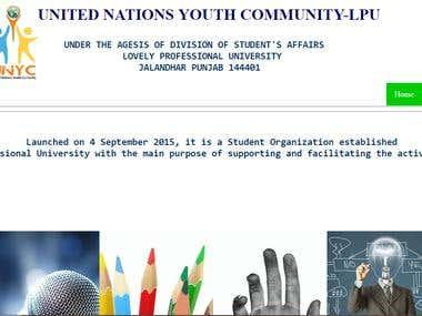 Website for UNYC,LPU