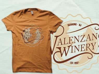 Valenzano Winery T-shirt Design