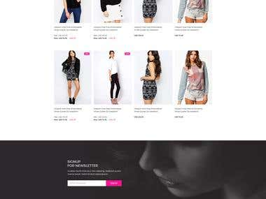 Online store D2I Web design and development