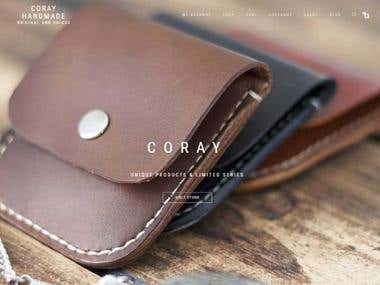 Website & Online store for Coray-Handmade