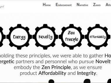 HenZai Wordpress Website