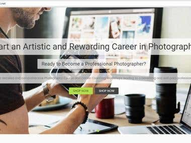 Content Writing for a Photography Website
