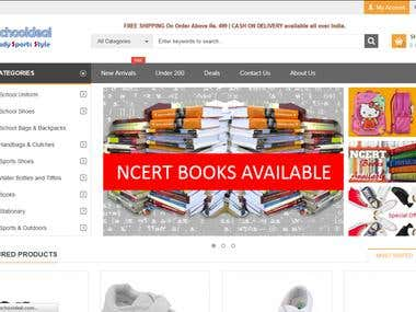 Magento based online store for school items