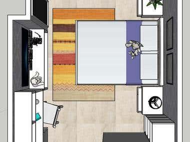 View plant bedroom design
