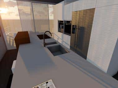 Kitchen Design and Render