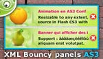 Flash Bouncy Panels as3/xml