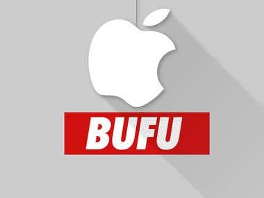 "iPhone 5s WALLPAPER ""APPLE AND BUFUS"""