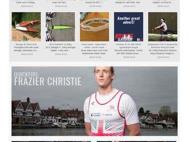 Rowing Classifieds Website