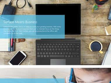 Microsoft Surface Website Concepts