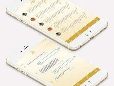 White paper app mockup