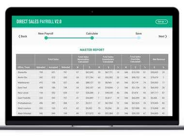 Complex payroll system for calculating salaries and bonuses