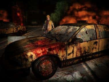 Zombie Game scene