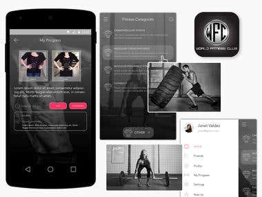 World Fitness Club - Social app for fitness lovers