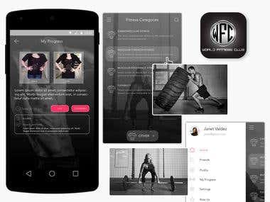 World Fitness Club - Social app for fitness lovers