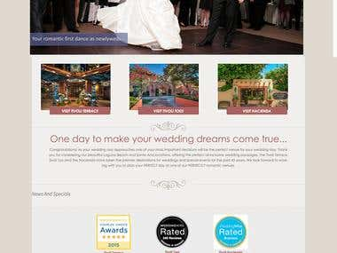 weddings and special events website