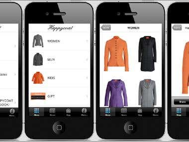 Fashion Accessories Shopping App (iOS)