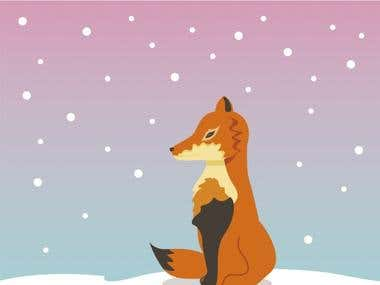 zorro en la nieve