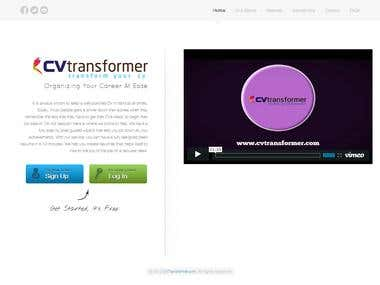 CVTransformerDOTcom | Manage, Print and Share your online CV