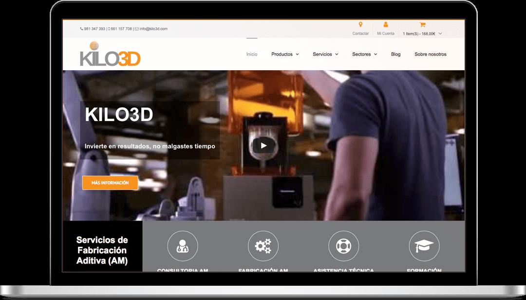 Tienda en WooCommerce Kilo3D