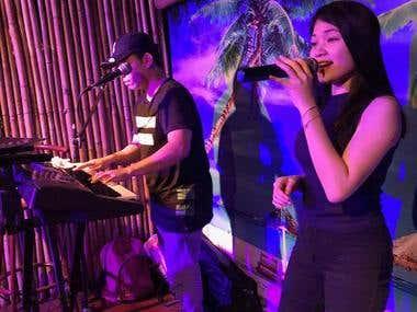 while singing