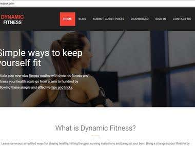 Content Writing for a Fitness Website