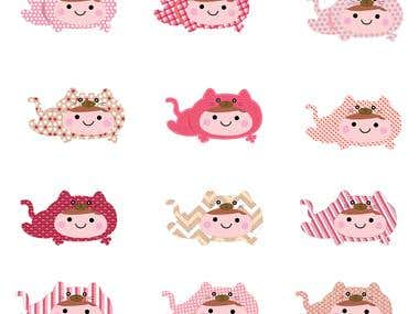 Baby Cat Suit Clip-art 2