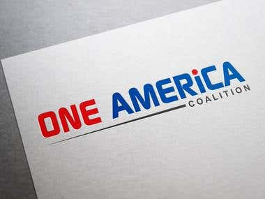 One America Logo Design