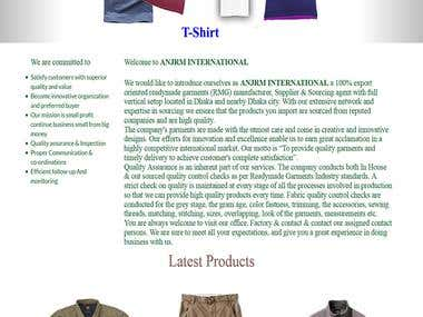 Garment buying house Website