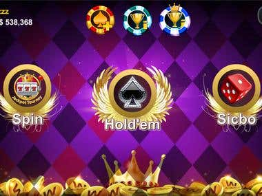 Mobile Game Poker Holdem Card Game (Android And IOS) Unity.