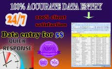 Data entry task with web research