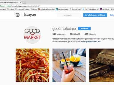 Goodmarket – Online subscription based webshop for healthy f