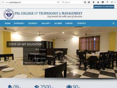 Website for College - Pal College