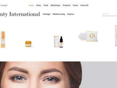 E commerce based site for Beauty products