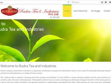 Website for tea industries