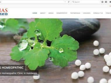 Website for a homeopathy clinic