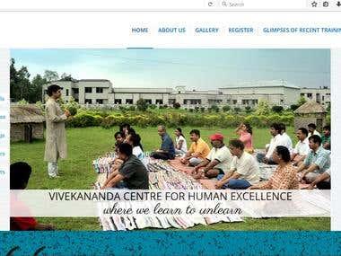 Website for an organization