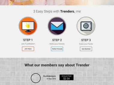 Trender (One page Bootstrap project)
