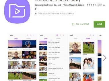 Samsung Video Library - Android Application