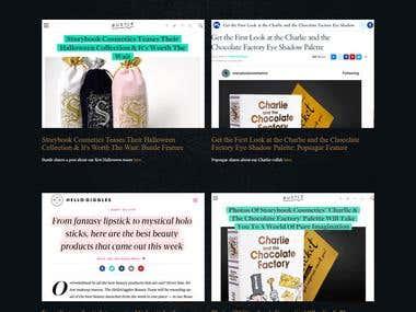 Story Book Cosmetics (Beautiful cosmatics websites)