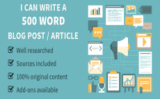 Article writing for blog and web content