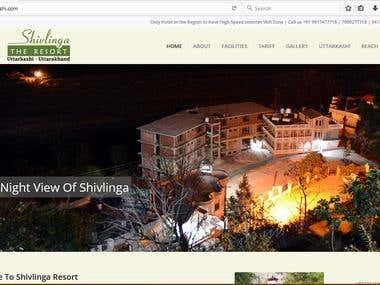 Website for a resort
