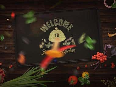 3D Opener/Intro for Indian food Channel