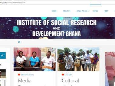 Institute of Social Research and Development Ghana