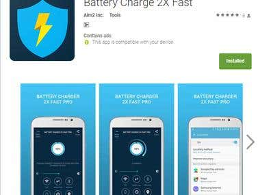 Battery Charge 2X Fast